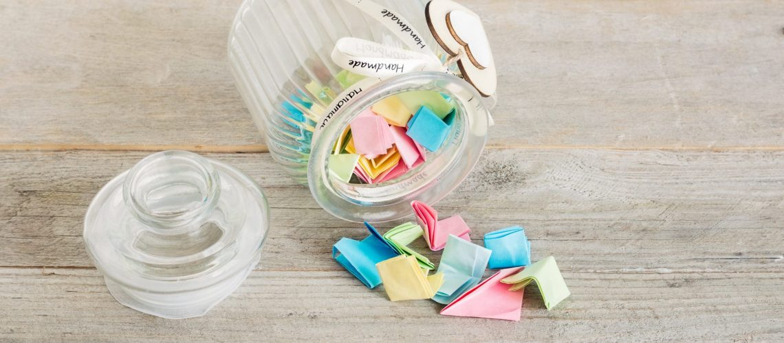 slips of paper in jar